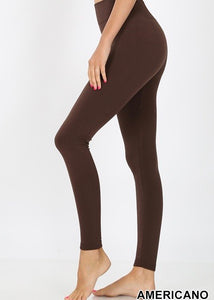 Fleece Leggings (Brown)
