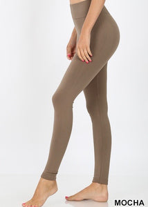 Fleece Leggings (Mocha)