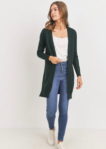 Sweater Knit Cardigan (dark green)