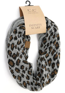 CC Leopard Accent Infinity Scarf (3 colors available)