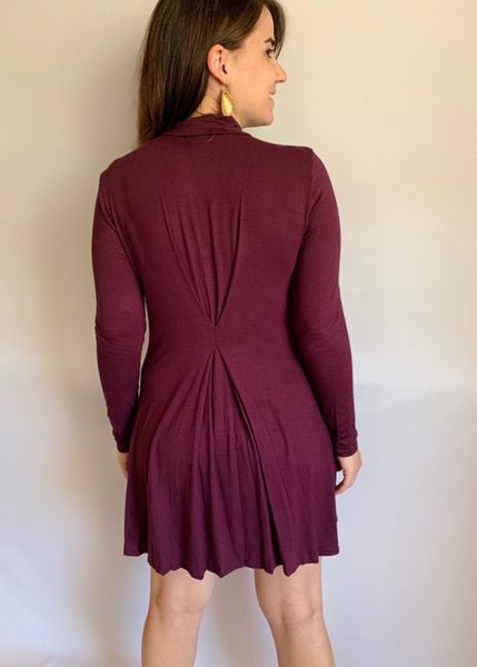 Fall Breeze Dress (burgundy)