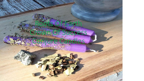 Crown Of Success Conjure Rootwork Candles Instructions Included