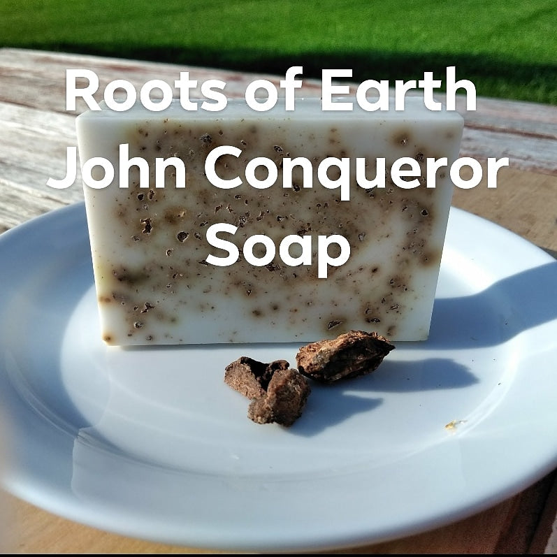 John Conquer Rootwork Soap By Roots Of Earth 4 Oz Bar