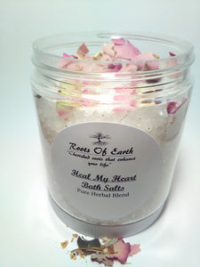 Heal My Heart Bath Salts For Grief and Loss Balance Release By Roots Of Earth