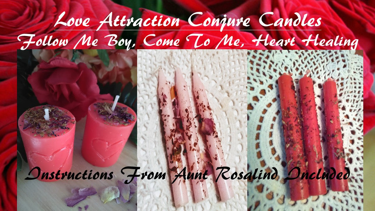 Love Conjure Candle Set 3 Sets For Your Conjure and Love Magic