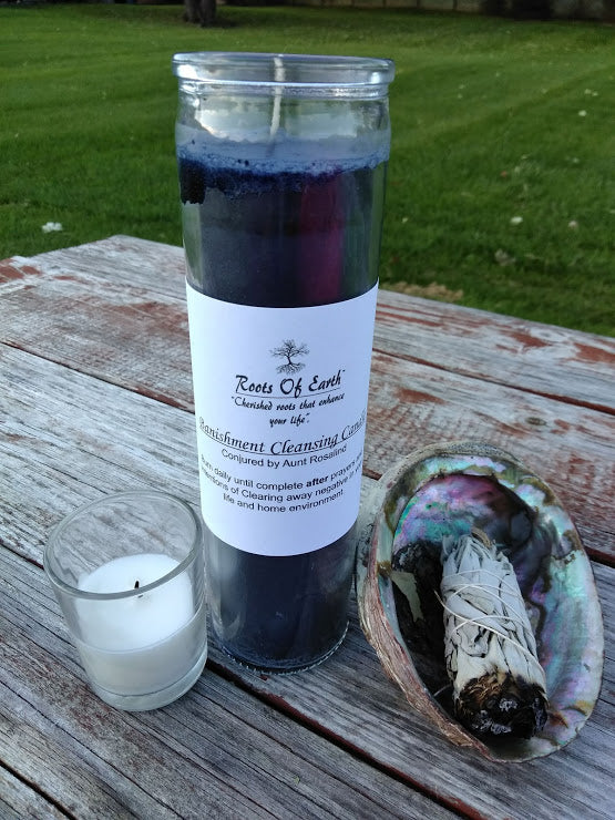 Banishment Cleanse Candle 7 Day Vigil Candle By Roots Of Earth