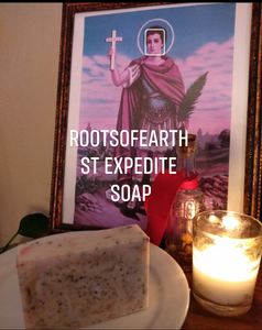 St. Expedite Conjure Soap Shea butter base organic roots