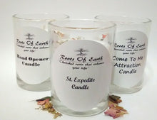 St Expedite Candle with Roots and Oils By Roots Of Earth
