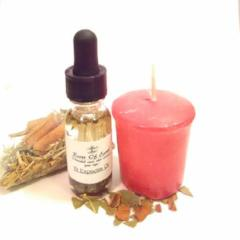 St Expedite Oil Kit Complete Roots Oil Candle For Emergencies and Help By Roots OF Earth