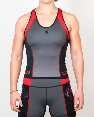 Finisher Tank Black/Red/Gray