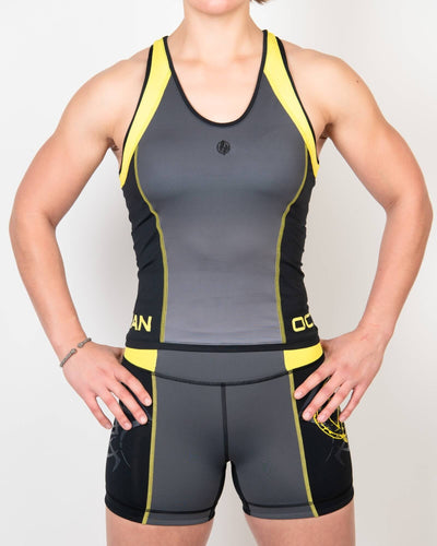 Finisher Tank Black/Gray/Yellow - Same Day Shipping