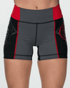 Women's Elite Compression Shorts - Black/Red/Gray