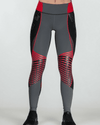 Women's Elite Compression Tights - Black/Red/Gray