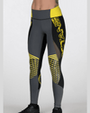 Women's Elite Compression Tights - Gray/Black/Yellow