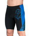 Men's Elite Compression Shorts - Black/Blue