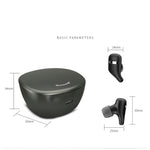 Waterresistant Bluetooth 5.0 A2-TWS Wireless Headphones Stereo Sound Touch Control