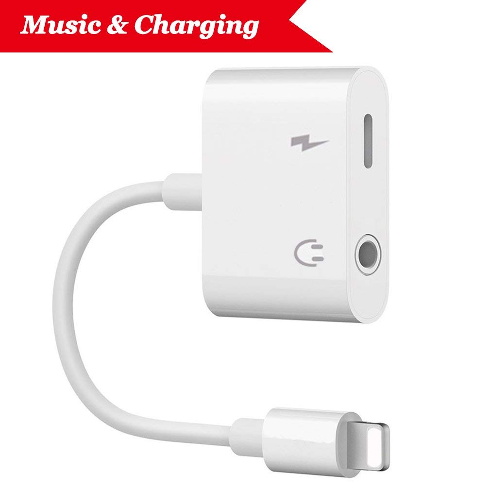 4 In 1 Dual Lightning Adapter iPhone 7 / 7 Plus Audio + Charging + Remote + Call