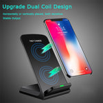 Vertical Wireless Charger Samsung Apple 10W Fast Charge