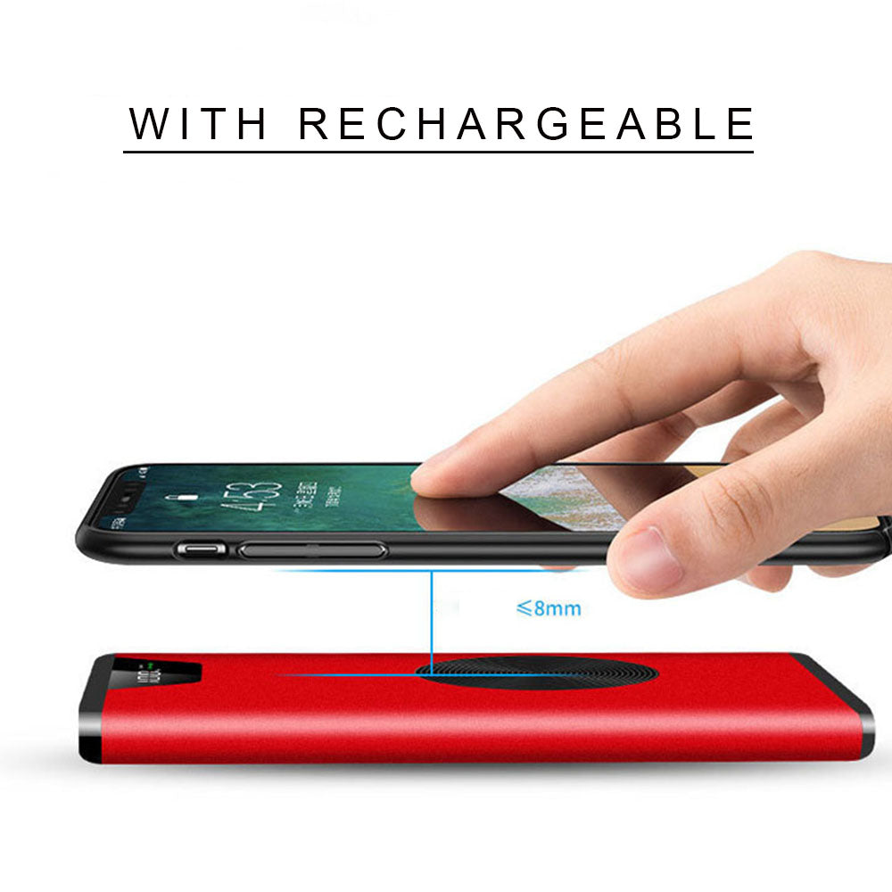 WK2 Wireless Charger Power Bank,10000mAh Portable Charger for iPhone X iPhone 8 Plus/8/7 Plus Galaxy S9/S8/S7 Note 8/7