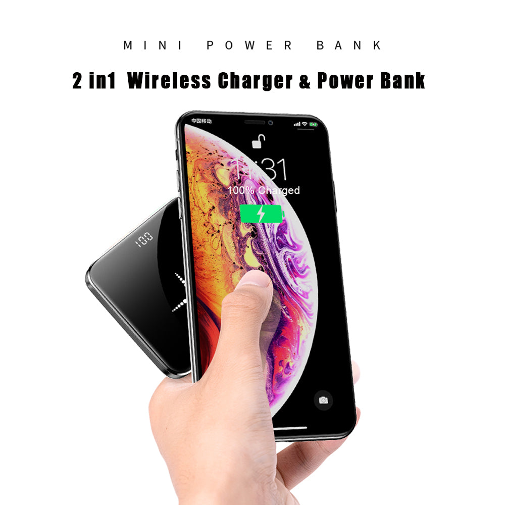 2019 Wireless Portable Charger, Qi Certified Wireless Charging Compatible with iPhone Xs Max/XS/XR/X/8/8 Plus, Samsung Galaxy S10and More