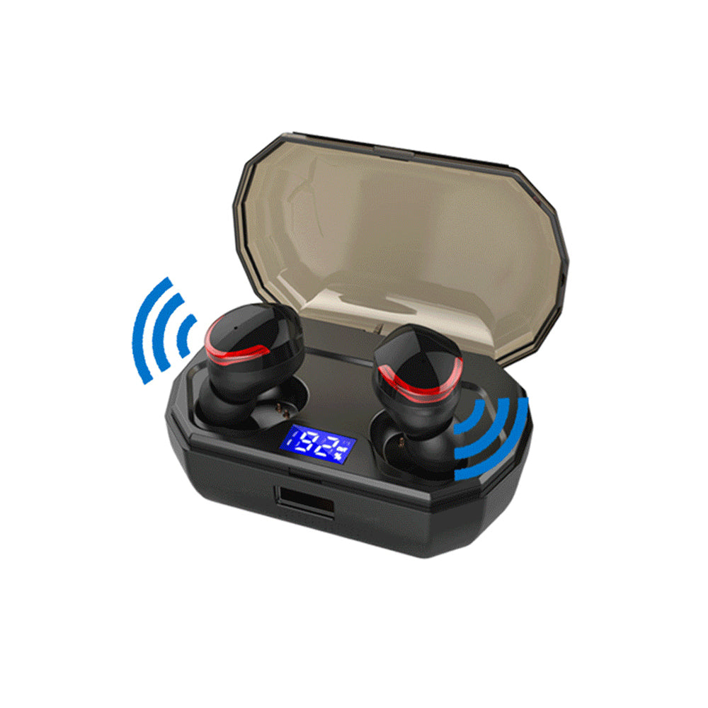 TWS-R10 Bluetooth Headset 5.0 IPX7 Digital Display with Mic