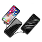 Solar Power Bank 10000mAh 2-Port USB Cable Charger for iOS and Android Devices