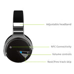 E7 Active Noise Cancelling Bluetooth Headphones with Mic Deep Bass Over Ear