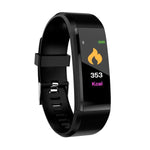 115Plus Colorful Screen New Smart Bracelet with Heart Rate Monitor + Blood Pressure Monitor