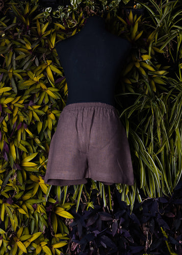 Detailed Brown Shorts - Kapad