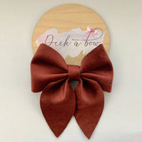 Burgundy sailor bow