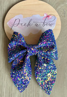 Sailor bow (holographic purple glitter)
