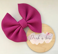 Purple Liverpool bow