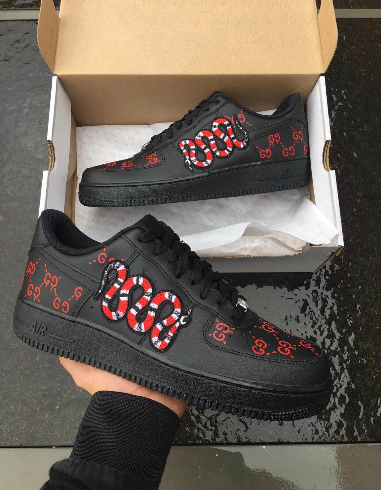 Gucci Snake Air Force 1 Customs