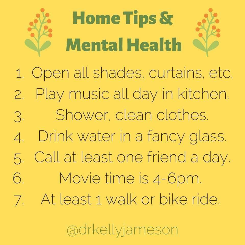Healthy Stay Home Advice