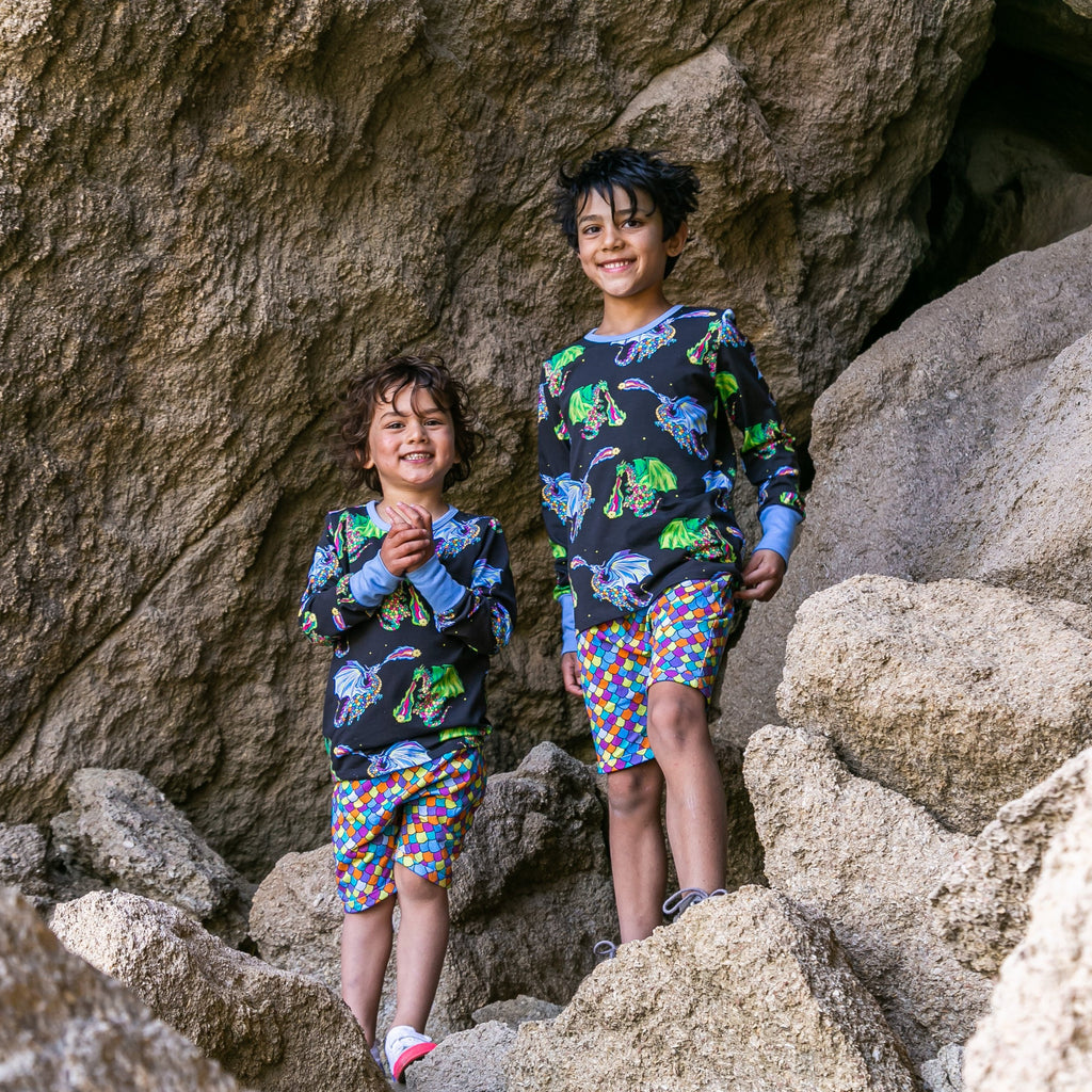 bright unisex kids clothes made of organic cotton
