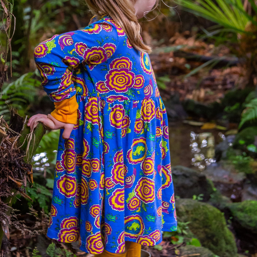 The Village on the Floor | Long Sleeve Twirl Dress