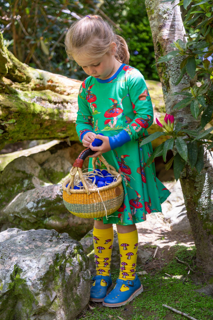 Basil the Curious Gnome | Long sleeve twirl dress