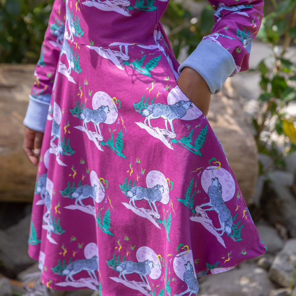 Luna's Song | Long Sleeve twirl dress with pockets