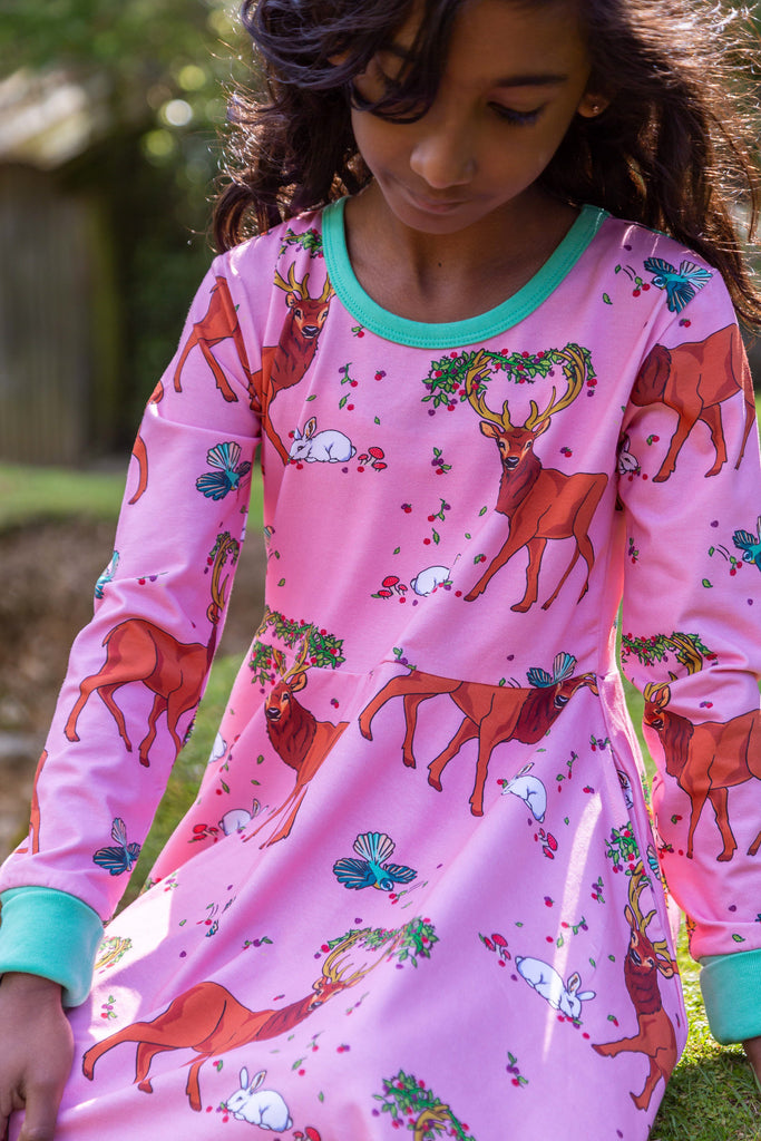 Cedar in the Berry Bush | Twirl dress long sleeve