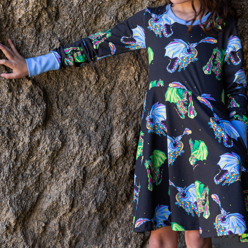 Astrid & Orion the Star Lighters | Twirl dress long sleeve