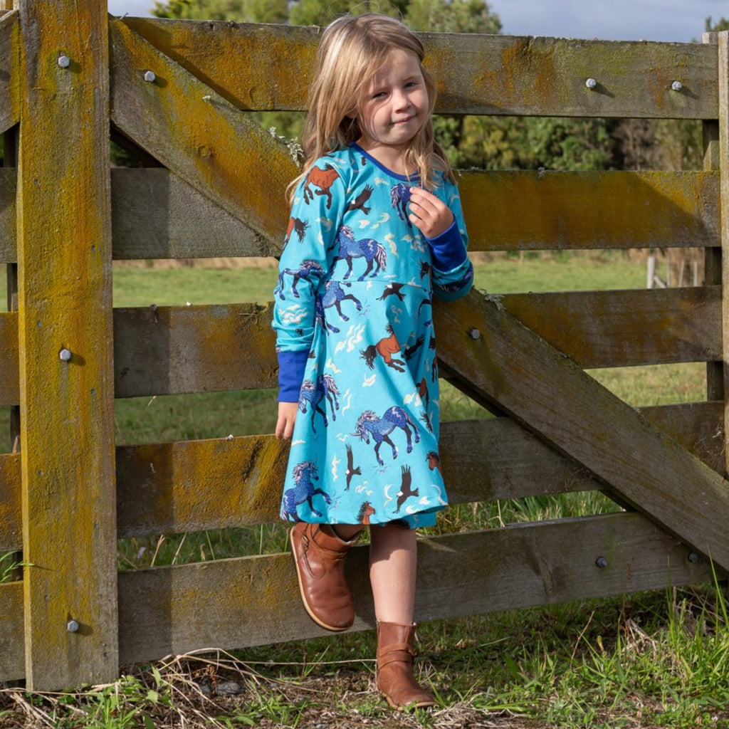 Storm leader of the Wild herd | Twirl Dress Long Sleeve