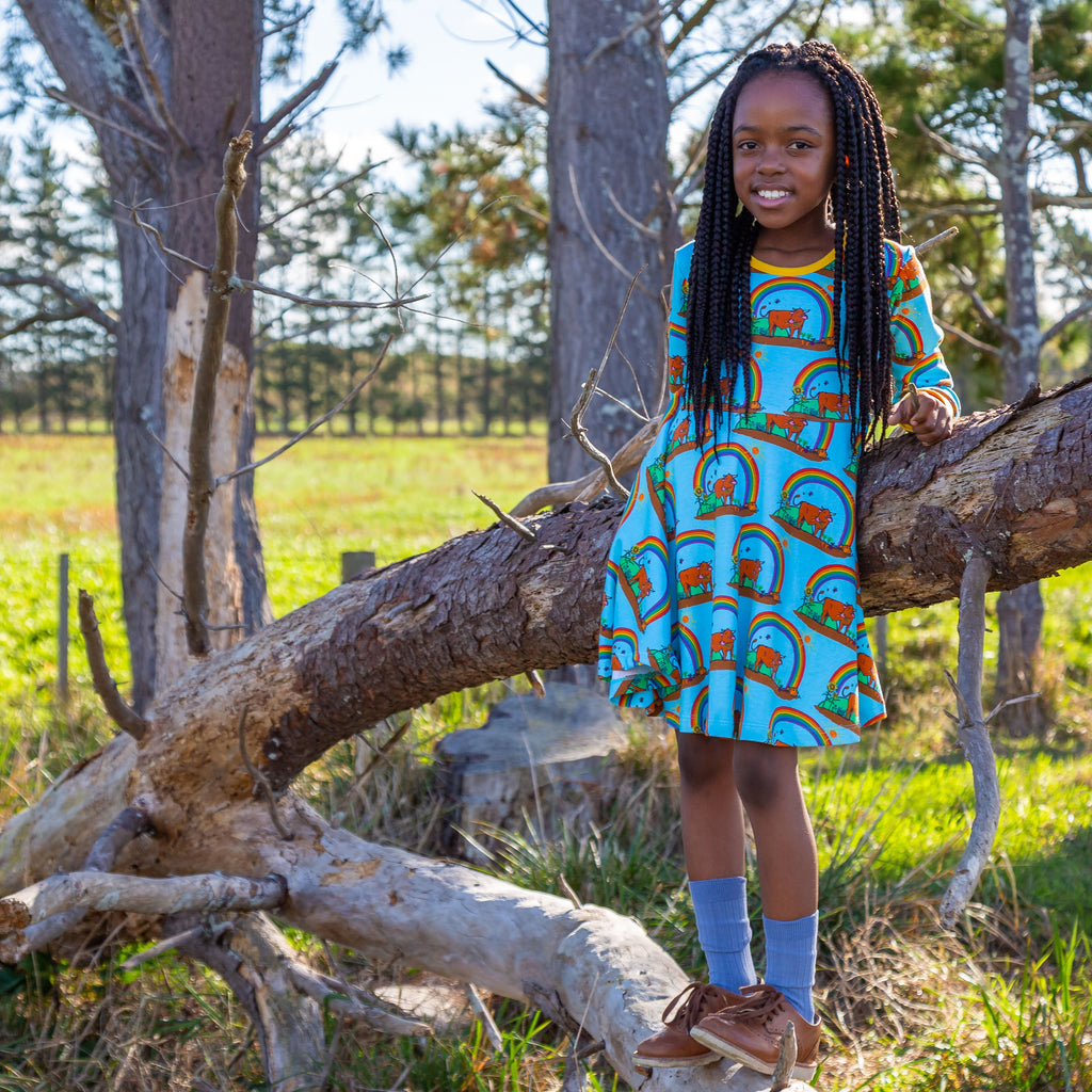 Gus in the Garden | Long Sleeve Twirl Dress
