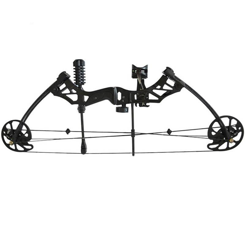 Black Aluminum Alloy Compound Bow With 35-70lbs Draw Weight