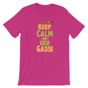 -KEEP CALM UND GEH GASSI- Kurzärmeliges Unisex-T-Shirt