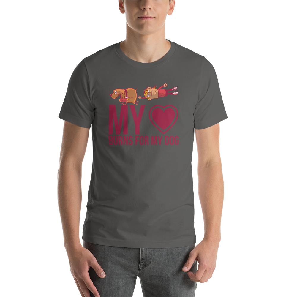 -LOVE MY DOG- Kurzärmeliges Unisex-T-Shirt