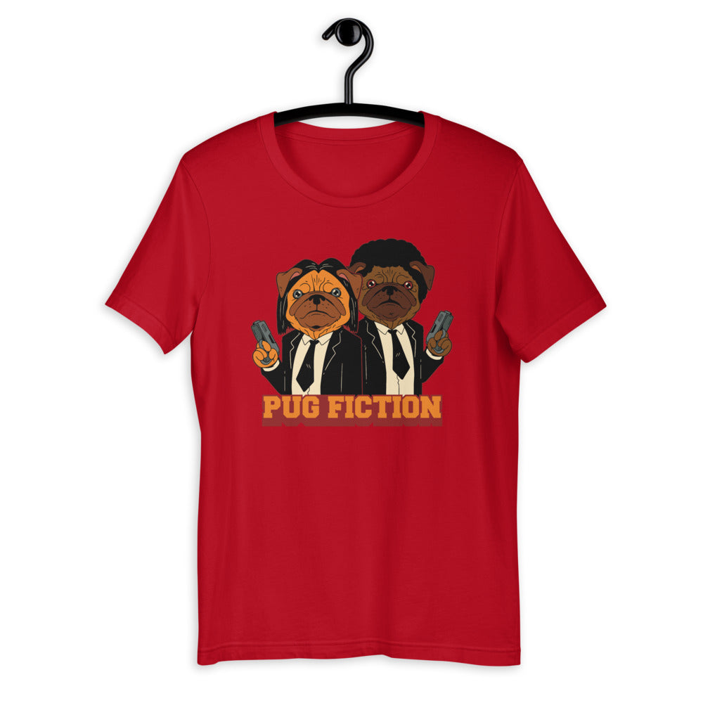 -PUG FICTION- Kurzärmeliges Unisex-T-Shirt