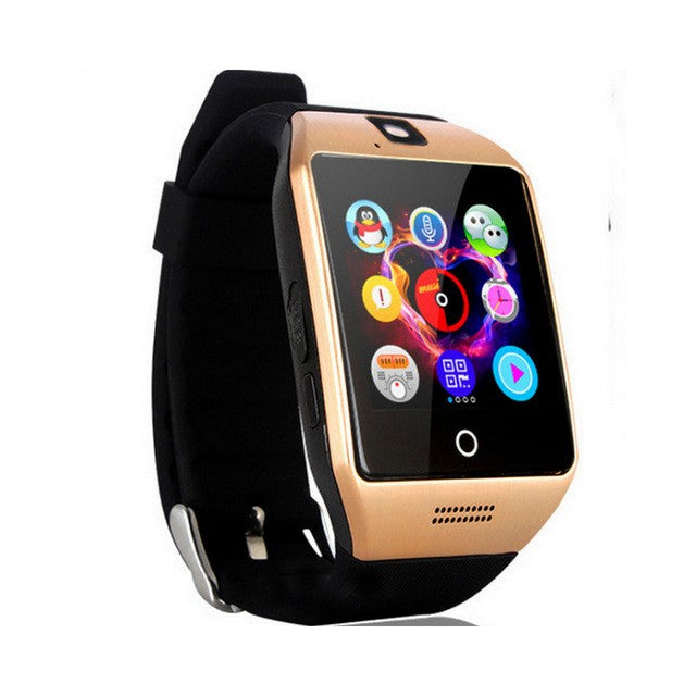 Bluetooth Smart Watch Men Q18 With Touch Screen Big Battery Support TF Sim  Card Camera for Android Phone Smartwatch