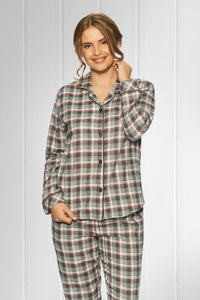 Lady Avenue ternet bomulds flannel pyjamas