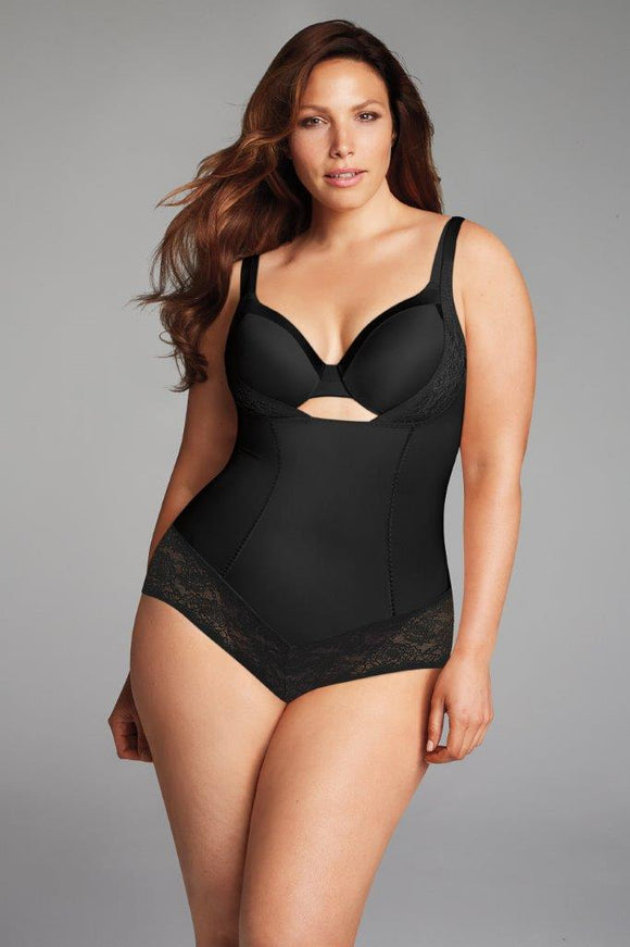 Maidenform shapewear bodybriefer i sort.
