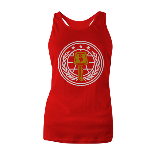 Street Parking RED Veterans Tank (Women's Cut) - Street Parking